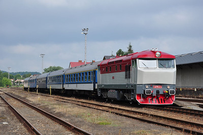 749 240 at Frýdlant v Čechách during an operational stop (06.07.2013)