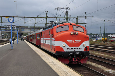 "Ra 987 ""Rapide 3"" after arrival at Nässjö with 23062, 0755 Malmö C - Nässjö charter (22.09.2013)"