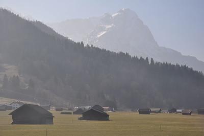 View of the Waxenstein which lies to the south west of Garmisch-Partenkirchen (08.03.2014)