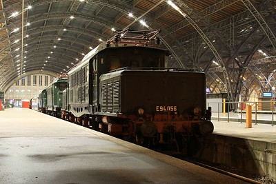Leipzig Hbf is home to a static exhibition of heritage German traction. This is E94 056 built by AEG, Henningsdorf (Berlin) in 1942 (21.02.2015).