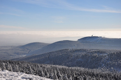 The view looking westward from near the summit of the Brocken (25.01.2014)