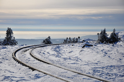 The approach to Brocken station (25.01.2014)