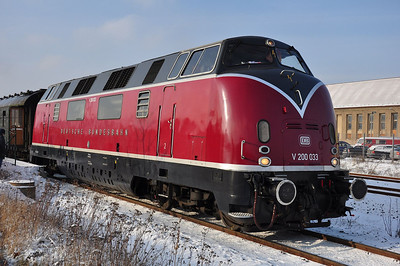 V200 033 after arrival at Wernigerode (25.01.2014)