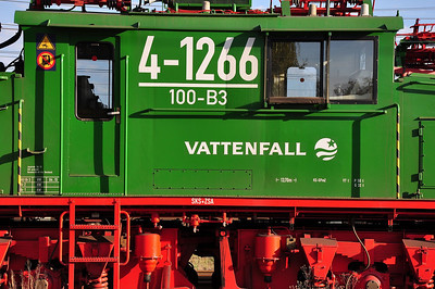 Close-up of recently-overhauled 4-1266 in Jänschwalde Yard (19.10.2013)