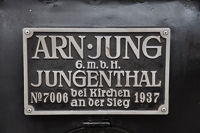 Builder's plate of 64 415 (07.09.2013)