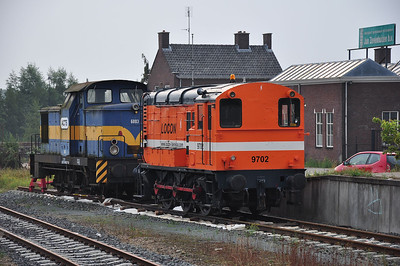 Locon 9702 (ex-NS 679) and ACTS 6003 (ex-Benzina Trutnov Poříčí [Czech Republic] V60-18105) stabled in Apeldoorn yard (07.09.2013)