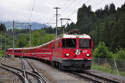 627 arriving at Valendas-Sagogn with train RE1233, 08.44 Disentis/Muster - Scuol-Tarasp (25.08.2013)