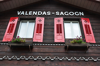 Could this be Switzerland? Valendas-Sagogn on the Rhätische Bahn line between Chur and Disentis/Muster (25.08.2013)