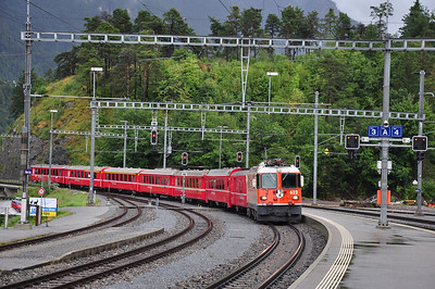 622 arriving at Reichenau-Tamins with train RE1216, 08.56 Chur - Disentis/Muster (25.08.2013)