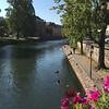 L'lll River  that runs through Strasbourg
