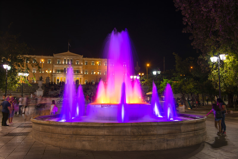 Fountain at Syntagma Square, Athens Greece