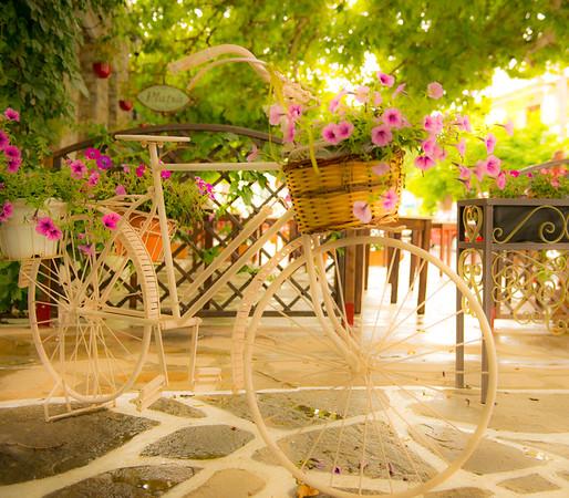 Mountain town of Filoti on island of Naxos, Greece