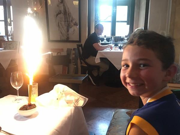 Birthday boy turns 9 years old