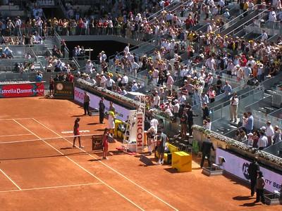 Rafael Nadal entering
