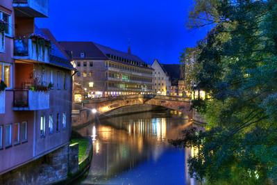 Bridge over the Pignetz after dark