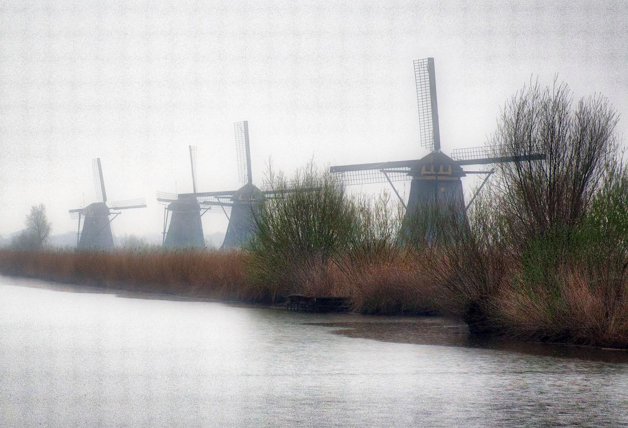 Windmills on the Kinderdijk Canal