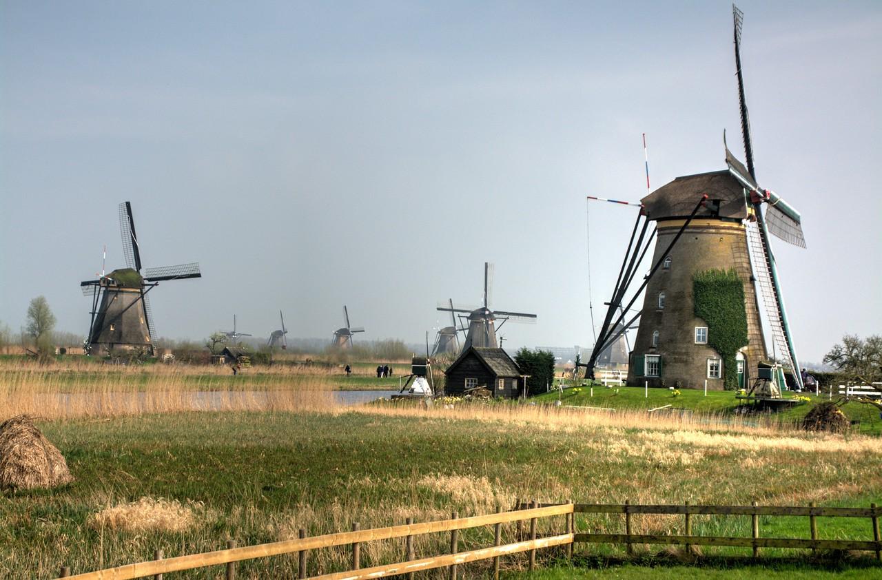 Dutch Windmills at Kinderdijk