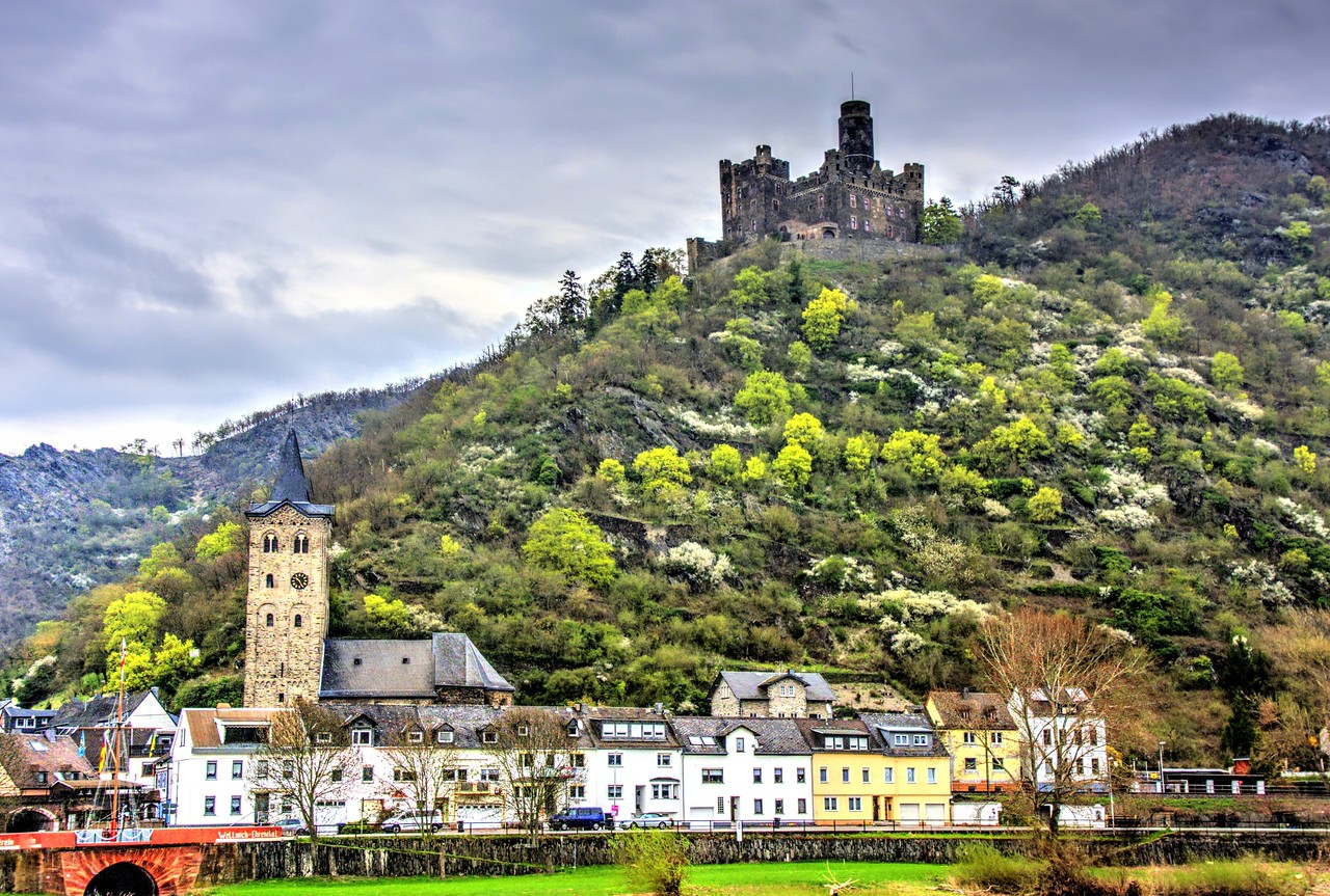 Wellmich, Germany and Maus Castle