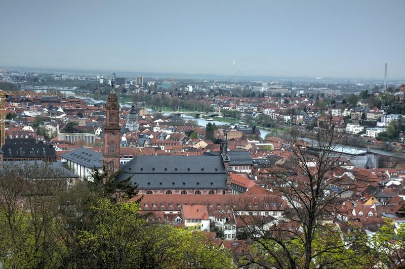 Heidelberg, Germany viewed from Heidelberg Castle
