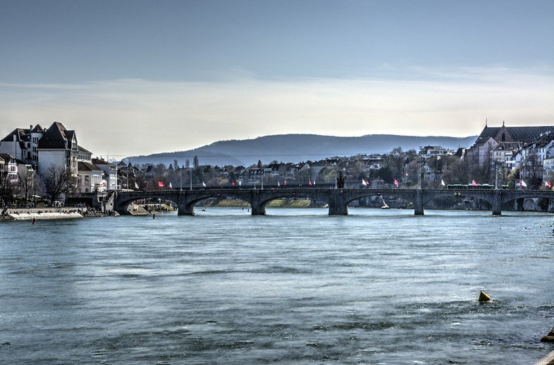 Bridge over the Rhine River in Basel