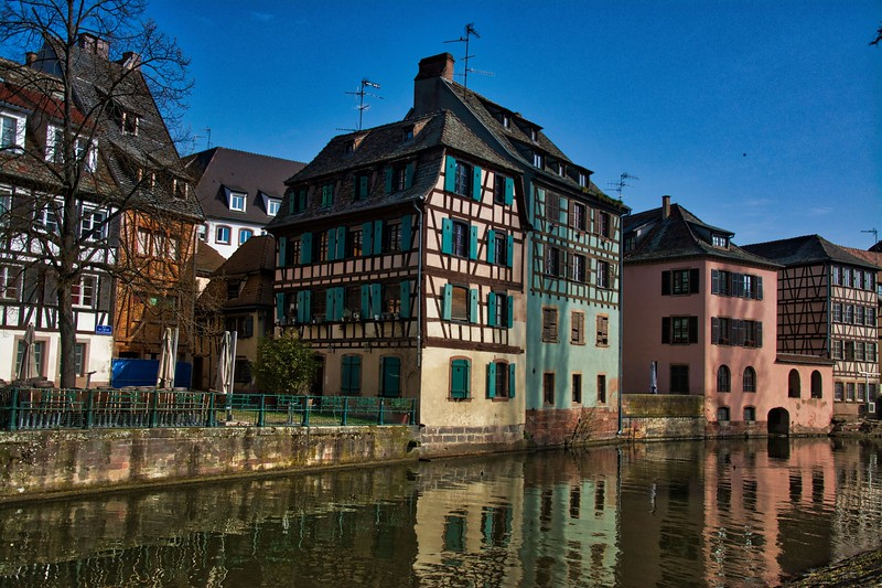 Half Timber Houses on the Qual Petit France, Strasbourg, France