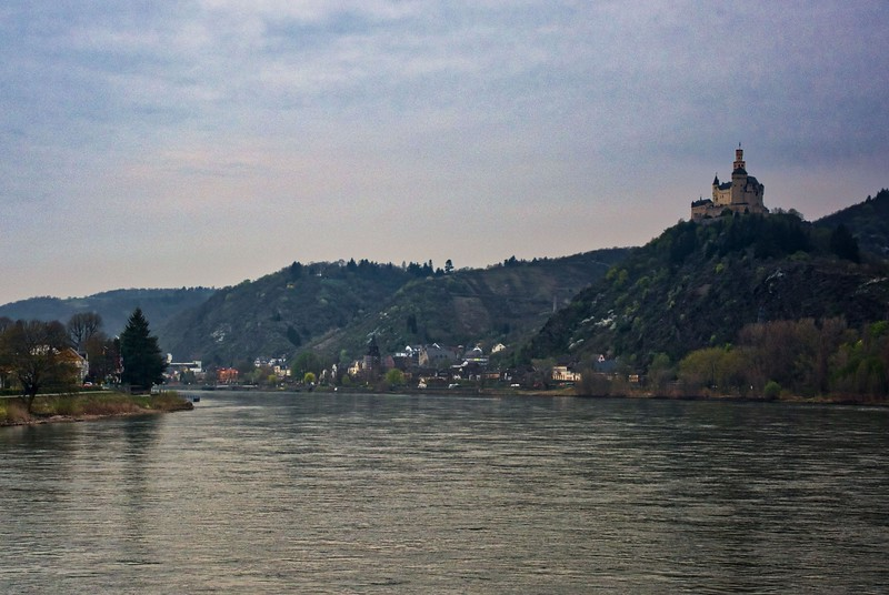 Marksburg Castle overlooking the Rhine River