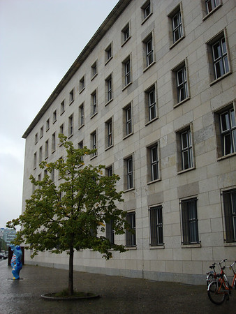 "The historic Luftwaffe building, ""luftwaffe"" is a generic German term for an air force."