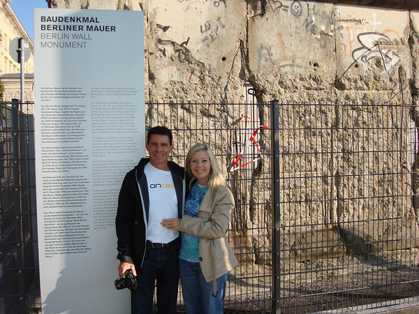 At the remnants of the Berlin Wall