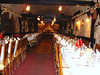 We sat in a large cellar converted into a dining room with people from all over the world.