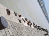 Another sad Holocaust memorial - 50 bronze shoes are placed along the Danube river where many people were shot and thrown into the river