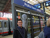 "Tony at the Prague train station (locals refer to Prague as ""Praha"")"