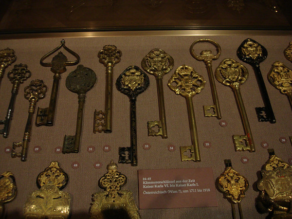 Key collection - part of the Hofburg Palace Treasury
