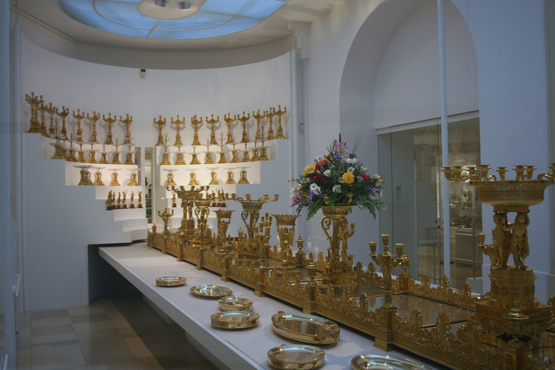 Hofburg Palace Treasury - these were only a few of the table centerpieces owned by the Hapsburg family.  The Hapsburg family was loaded!
