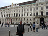 Tony in front of one of the many buildings in the Hofburg Palace
