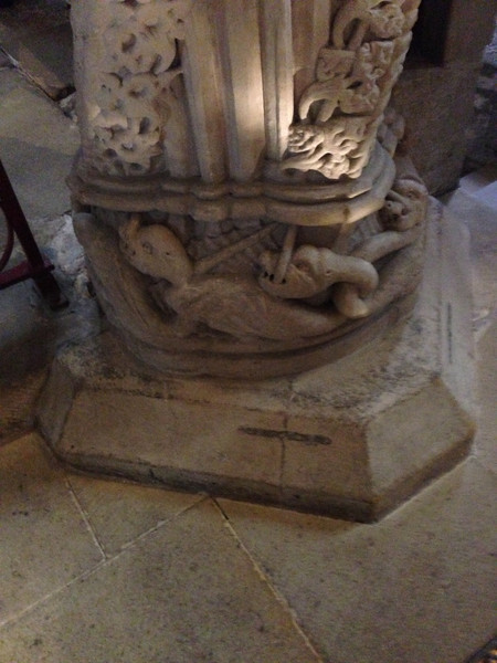 Rosslyn Chapel, base of the Apprentice Column