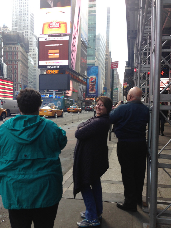 Chillin' in Times Square.  That's what we Emerys do.