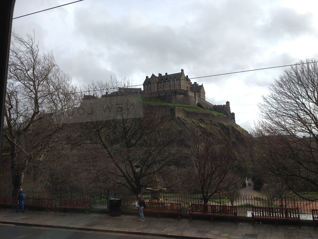 Edinburgh Castle as seen from the bus.