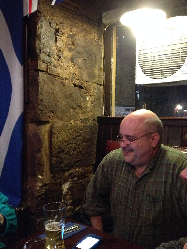 The World's End Pub is Greg's favorite place in Edinburgh.