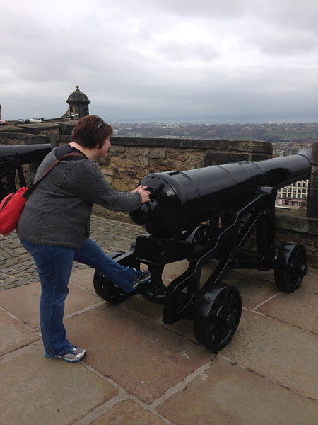 Deeann guarding the castle.