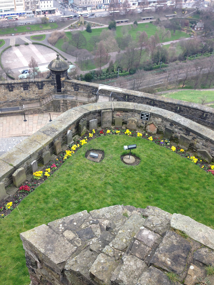 The graveyard for military dogs and mascots assigned to the castle since WWI.