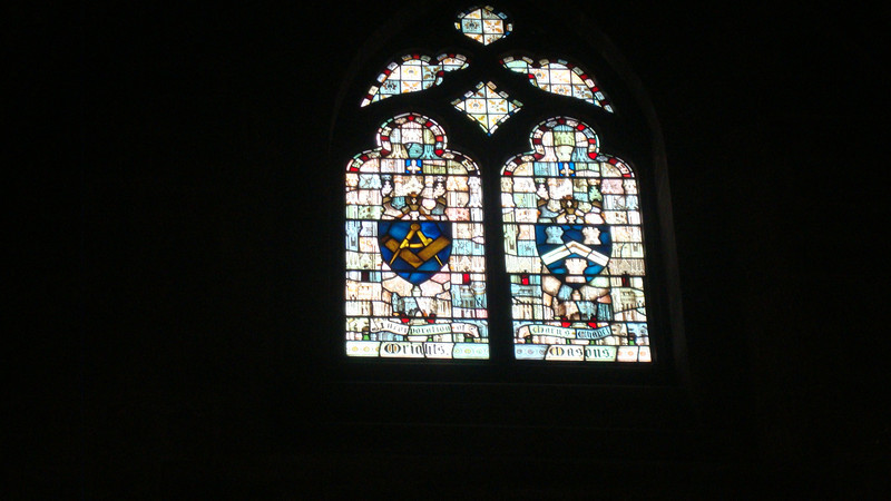 An interesting window in Edinburgh Cathedral
