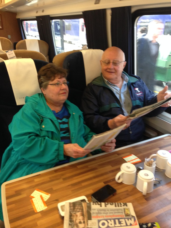 Mom always wanted to take a train.  Greg made sure she did it in first class :)