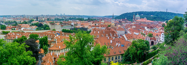 A panorama view of the city of Prague