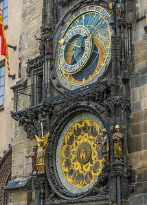 Astrological clock on cathereal