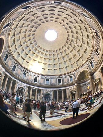 Inside the Pantheon, Rome Italy