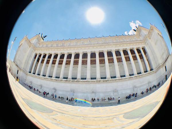 The Altare della Patria in Rome Italy.