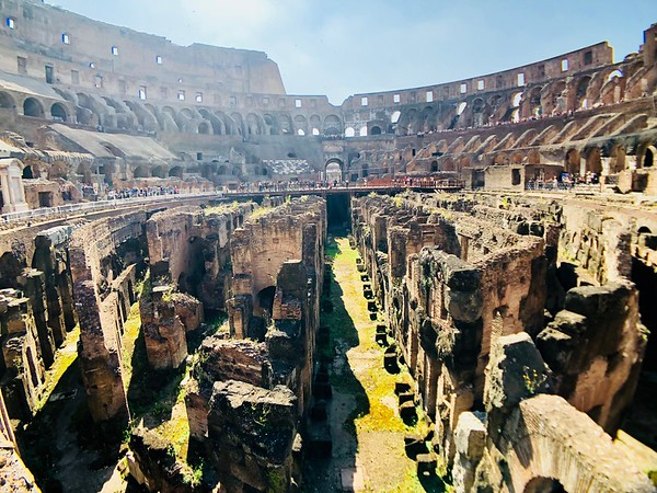 The ruins of the Colosseum, Rome Italy