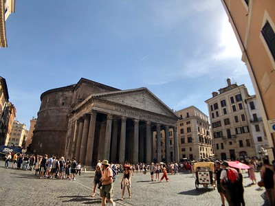 Outside the Pantheon in Rome, Italh