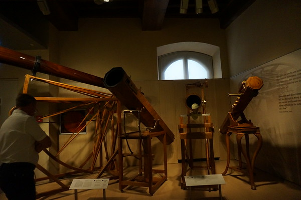 some really, really long, beautiful and very old telescopes. Galileo Museum, Florence, Italy.