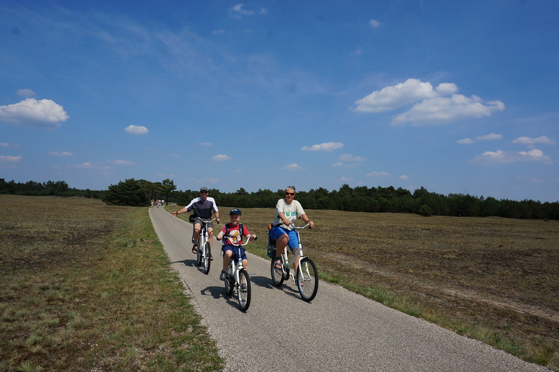 Elias, Bert and Petra at the Hoge Veluwe National Park